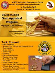 Read more about the article GOLD TESTING IN APPRAISALS TRAINING PROGRAMME-ALL YOU WANT TO KNOW