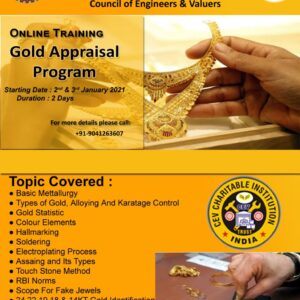 Chance to become Government Certified Gold Valuer