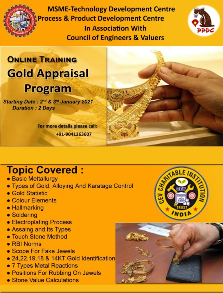 GOLD TESTING IN APPRAISALS TRAINING PROGRAMME-ALL YOU WANT TO KNOW
