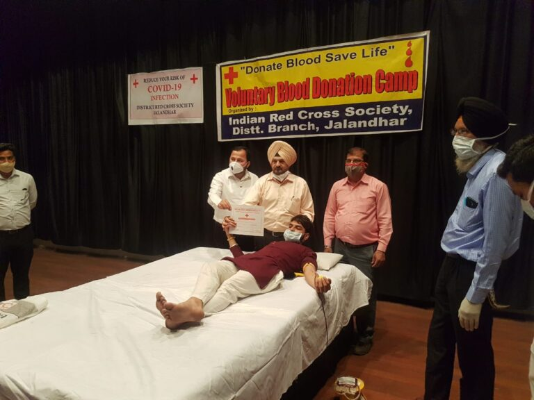 BLOOD DONATION CAMPS CONTINUES FOR THE SECOND DAY IN RED CROSS SOCIETY : DC APPEALS BLOOD DONORS TO COME FORWARD FOR THIS NOBLE CAUSE