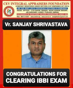 Read more about the article NEWS UPDATE: Er. SANJAY SHRIVASTAVA FROM BHOPAL CLEARED THE IBBI EXAMINATION ON 18TH MAY 2021.