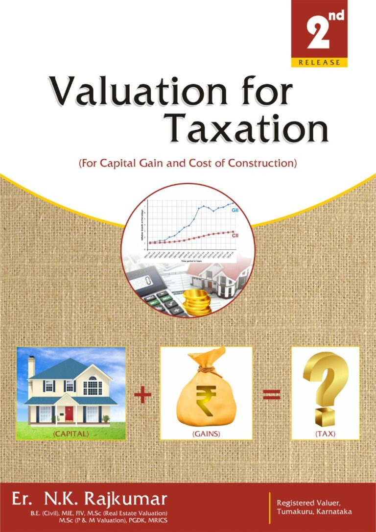BOOK REVIEW VALUATION FOR TAXATION (For Capital Gains & Cost of Construction) A Unique & Exclusive book for Tax Valuation with 48 case studies