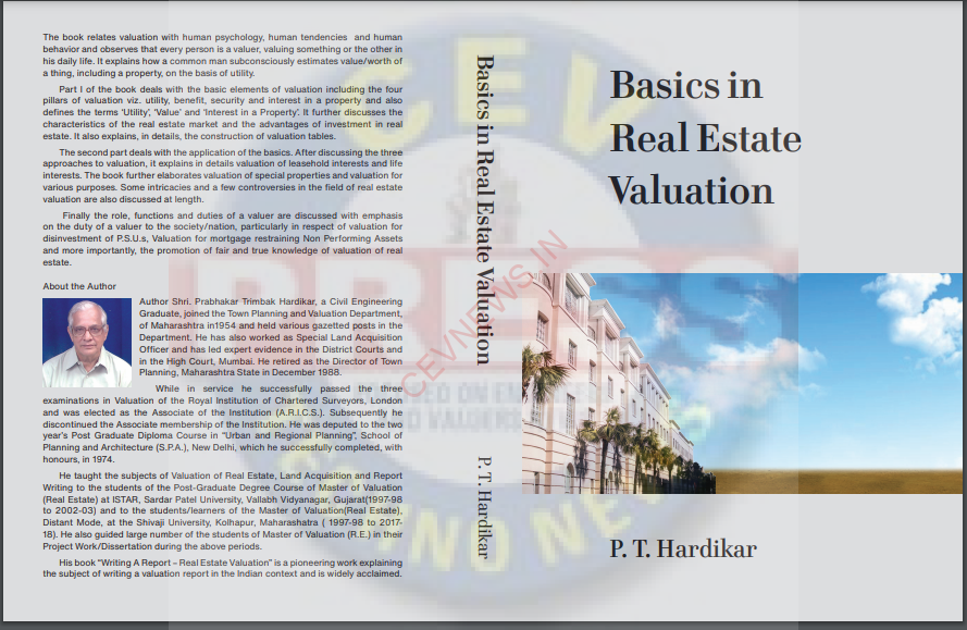 """Read more about the article BOOK REVIEW """"BASICS IN REAL ESTATE VALUATION"""" BY ER. P. T. HARDIKAR SIR"""