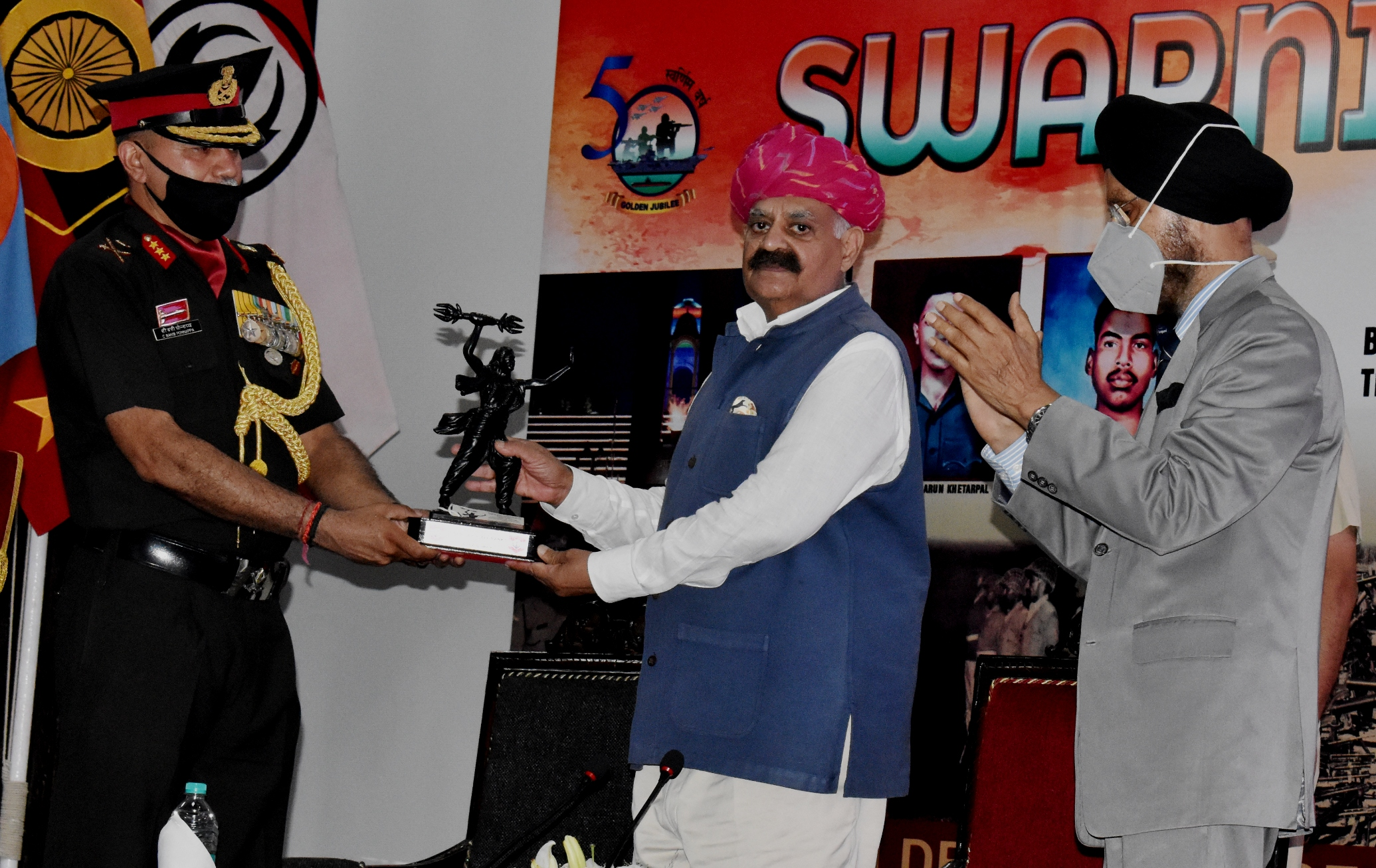 """You are currently viewing """"हर काम देश के नाम"""" SWARNIM VIJAY VARSH CELEBRATIONS FELICITATION CEREMONY AT VAJRA CORPS BY THE GOVERNOR OF PUNJAB"""